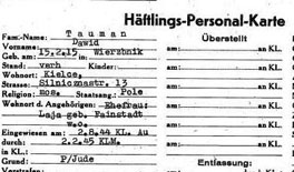 REMB 4 David Taumann Prisoner Card from Mauthausen rev (1)