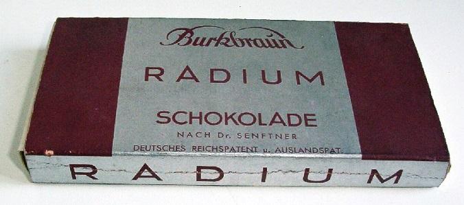 Radioaktywna Czekolada - Niemcy: http://dziwowisko.pl/promieniowanie-radioaktywne-produkty/