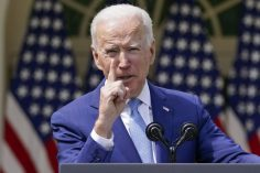 Joe Biden gestures as he speaks about gun violence prevention in the Rose Garden at the White House, Thursday, April 8, 2021, in Washington. (AP Photo/Andrew Harnik)