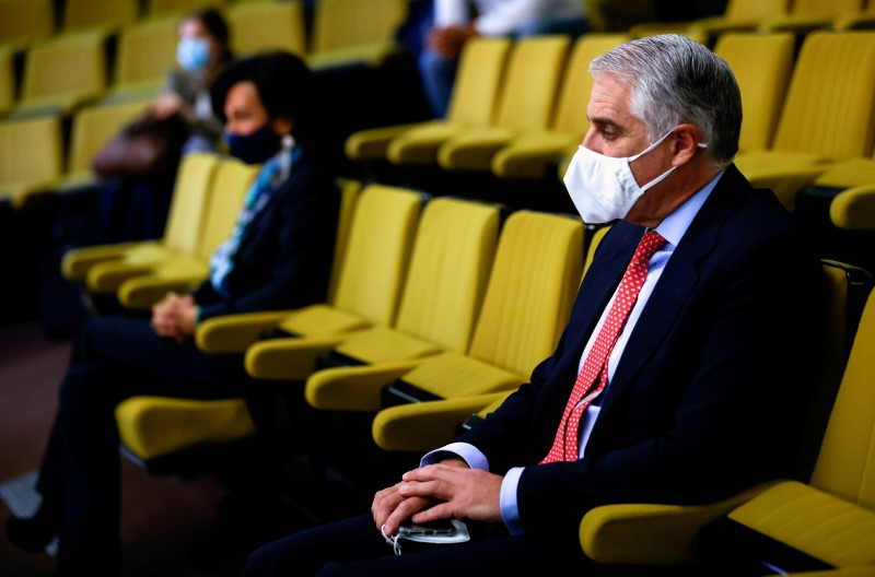 FILE PHOTO: Court hearing over Santander's withdrawn job offer to Orcel, in Madrid