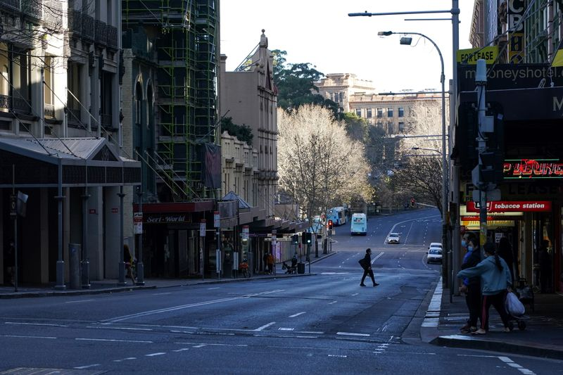 A COVID-19 lockdown remains in place as the outbreak of new cases affects Sydney