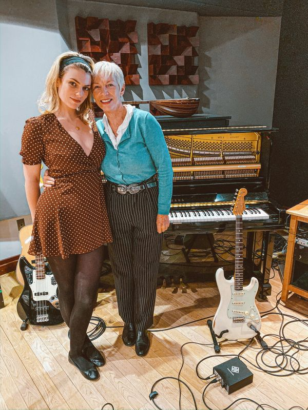 FILE PHOTO: Lola Lennox and her mother Annie Lennox pose in Los Angeles
