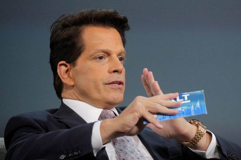 FILE PHOTO: Anthony Scaramucci, Founder & Managing Partner of SkyBridge Capital, speaks while hosting the Skybridge Capital SALT New York 2021 conference in New York