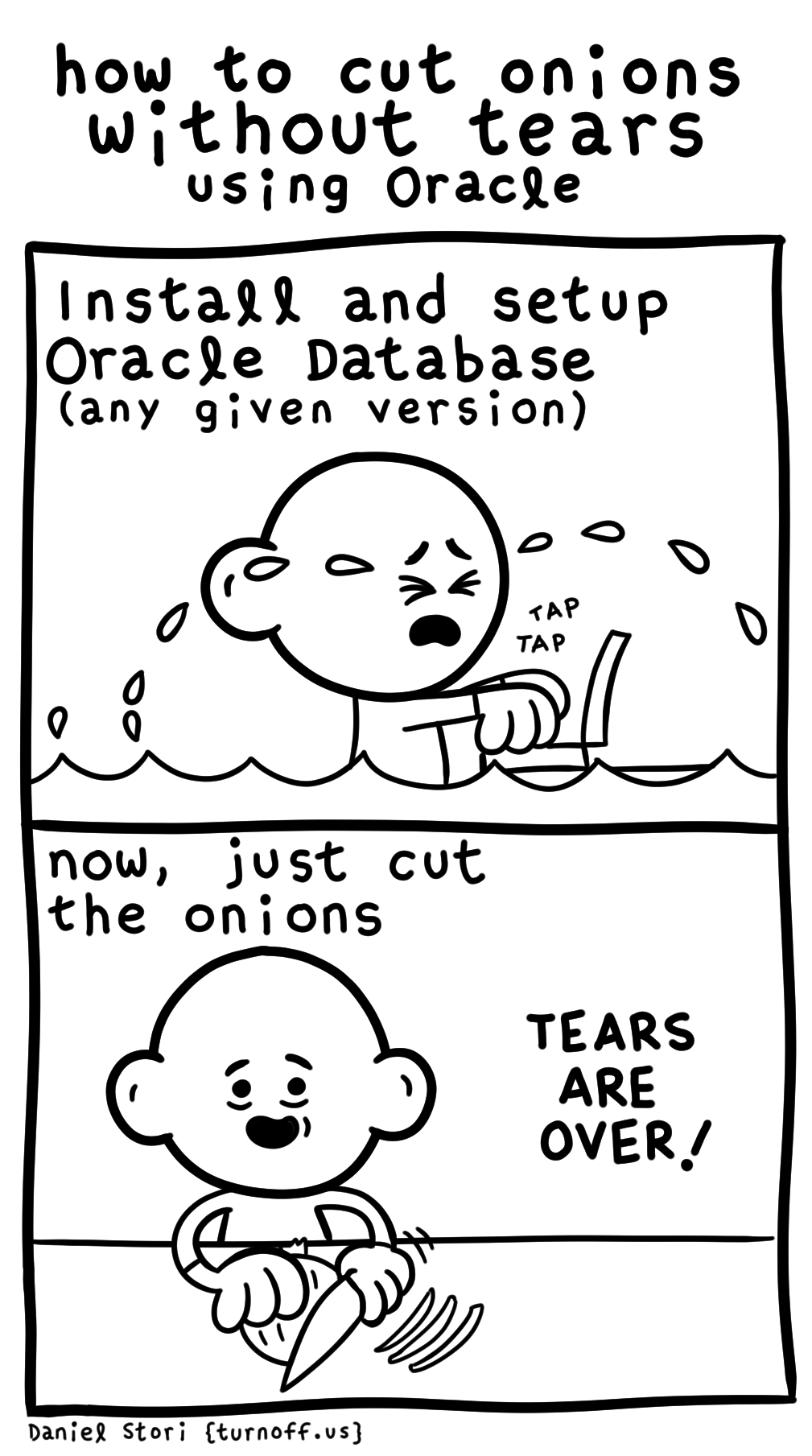 How to Cut Onions Without Tears (Using Oracle) [Comic