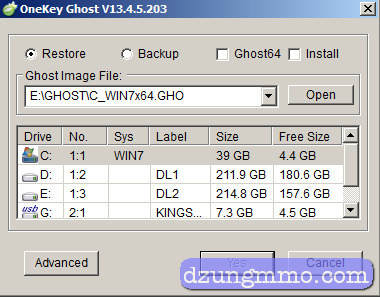 Onekey ghost win 7