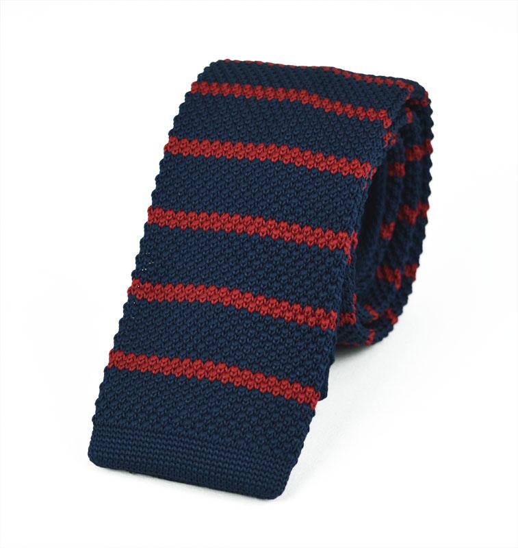 Πλεκτή Γραβάτα Blue-red