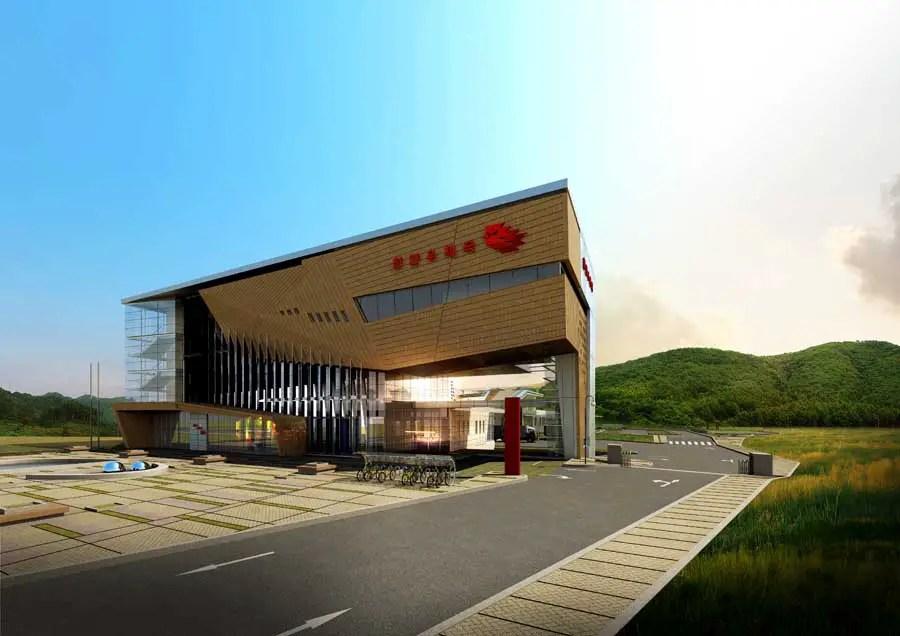 Cheonan Post Office, Korea, Chungdang Building Earchitect