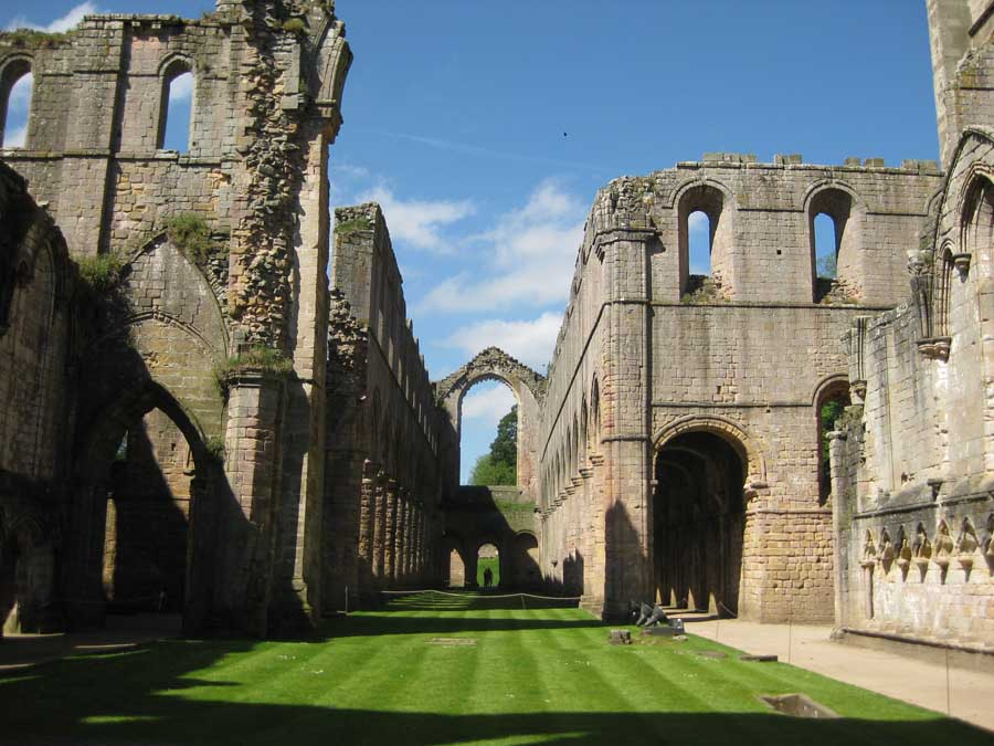 Fountains Abbey Building  Studley Royal Gardens  earchitect