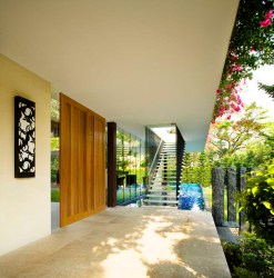 tangga tropical singapore contemporary residence architects guz tanga architect stair designs case modern stairs architecture roof decor building tweet