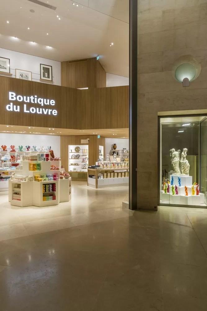 Louve Gift Shop : louve, Musée, Louvre, Bookstore, Giftshop, E-architect