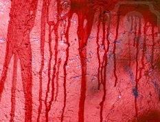 krew na ścianie