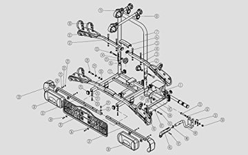 Bullwing SR3 Fahrradträger Heckträger für 2 Fahrräder oder E-Bikes, für Anhängerkupplung AHK, klappbar für Auto und PKW -
