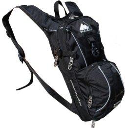 Cox Swain Trinkrucksack mit Airrücken inkl. Helmhalter in schwarz mit Reflektoren und Expander! -