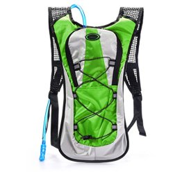 Juboury Hadration Pack - Trinkrucksack inklusive 2L Trinkblase zum Laufen, Wandern, Radfahren und für alle anderen Outdoor-Sportarten bei der Sie Flüssigkeit benötigen (Grün) -