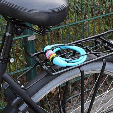 Nean Fahrrad Schloss Kabelschloss 10x650mm mit Zahlenkombination Zahlenschloss Blau -