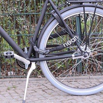 NEAN Zahlenschloss mit Stahlkettengliedern für Fahrrad und Motorrad 6mm x 900mm (Schwarz) -