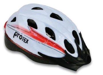 Profex Beleuchteter Fahrradhelm, weiß, 52-58 cm, 62340 -