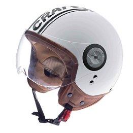 Rollerhelm / E-Bike Helm Cratoni Milano, white-black glossy, Gr. M (57-58 cm) -
