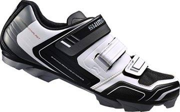 Shimano Fahrradschuhe MTB Radschuhe SH-XC31W GR. 45 SPD 3 Klettverschl., Unisex-Erwachsene Radsportschuhe - Rennrad, Weiß (White), 45 EU -