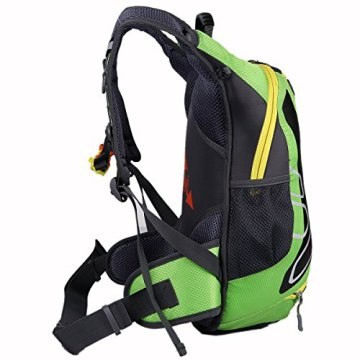SHTH 15L Wasserdicht Fahrrad Schulter Rucksack Wasser Reisetasche Ultralight für Radsport Outdoor Reiten Bergsteigen Hydration (Grün) -