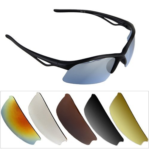 SODIAL (R) UV400 Schutz Glas Sonnenbrille Sport Fahrrad