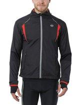 Ultrasport Herren Running-/Bikingjacke Stretch Delight, Schwarz/Rot, M, 40021 -