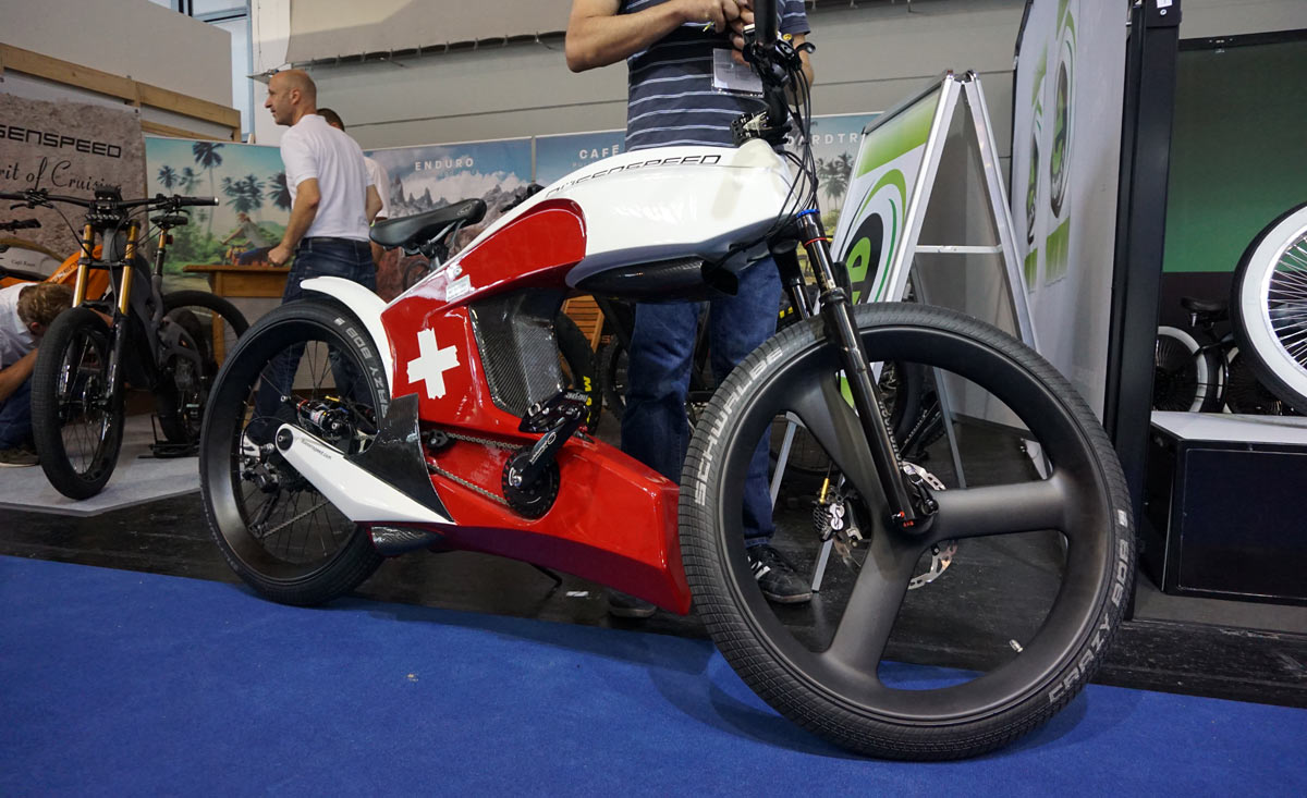 Deusenspeed Cafe Racer E Bike Concept With Street Carbon Fiber Fairings