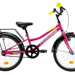 DHS Speedy 20 Inch 23 cm Meisjes Terugtraprem Roze