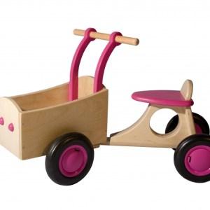Van Dijk Toys loop-bakfiets Junior Roze