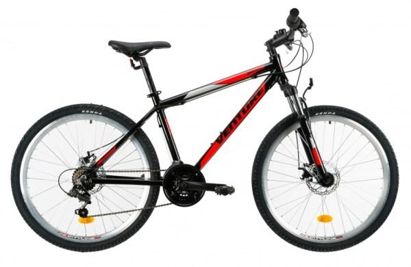 Venture 2621 mountainbike 26 Inch 38 cm Jongens 18V V-Brake Zwart/Rood