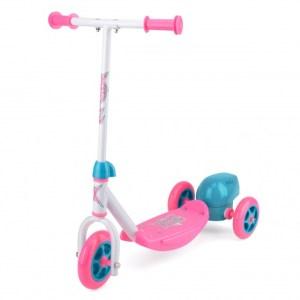 Xootz 3-wiel kinderstep Bubble Scooter Meisjes Voetrem Roze
