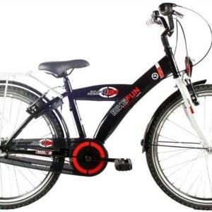 Bike Fun City 24 Inch 36 cm Jongens Terugtraprem Zwart