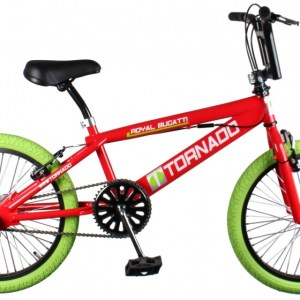 Bike Fun Tornado 20 Inch 55 cm Junior V-Brake Rood/Groen