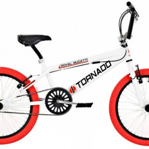 Bike Fun Tornado 20 Inch 55 cm Junior V-Brake Wit/Rood