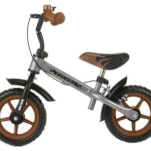 Milly Mally loopfiets Dragon 10 Inch Junior Knijprem Zilver