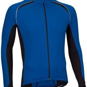 Avento Fietsshirt lange mouw heren blauw/zwart/wit maat XL