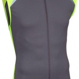 Avento Fietsshirt mouwloos heren antraciet/fluorgeel/wit maat XL