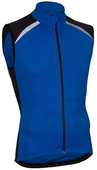 Avento Fietsshirt mouwloos heren blauw/zwart/wit maat L