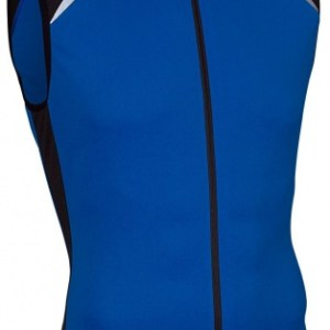 Avento Fietsshirt mouwloos heren blauw/zwart/wit maat M