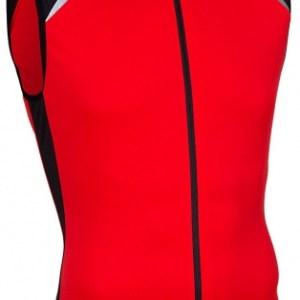 Avento Fietsshirt mouwloos heren rood/zwart/wit maat S