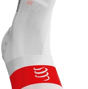 Compressport Ultralight V3.0 fietssokken wit maat 42-44