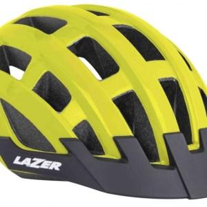 Lazer fietshelm Compact Deluxe unisex geel maat 54-61 cm
