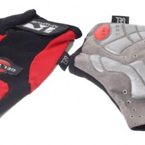 M-Wave Fietshandschoenen Gel rood zwart maat L