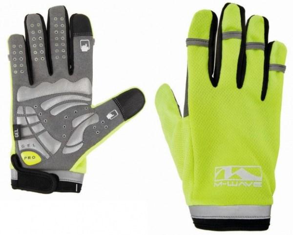 M-Wave Handschoenen Gel Secure Touchscreen geel maat M
