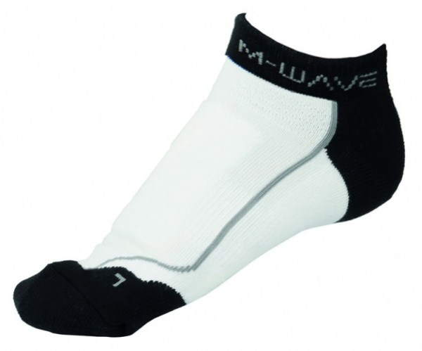M-Wave Sportsokken Road Sock Wit Zwart Maat 43/46