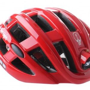 Pro Sport Lights fietshelm met verlichting unisex rood mt 49-59