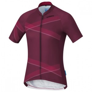 Shimano fietsshirt Team Performance dames bordeaux Maat XXL
