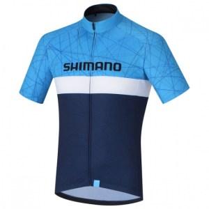 Shimano fietsshirt Team Performance heren blauw Maat S
