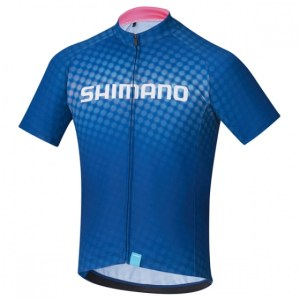 Shimano fietsshirt Team junior blauw maat 140