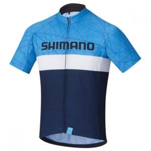 Shimano fietsshirt Team junior navy maat 140